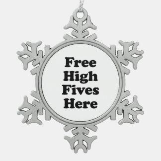 Alto Fives libre aquí Adorno De Peltre En Forma De Copo De Nieve