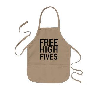 Alto Fives libre Delantal Infantil