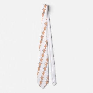 Alto gesto abierto de cinco de la mano dedos de la corbatas personalizadas