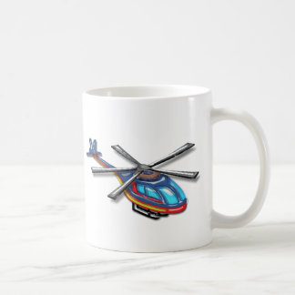 Alto helicóptero del vuelo taza de café