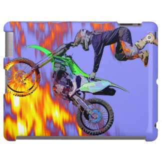 Alto jinete del motocrós del estilo libre del funda para iPad
