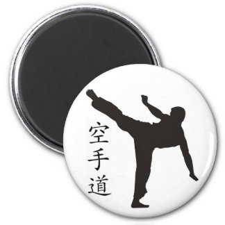 Alto kanji del retroceso/del karate imán redondo 5 cm