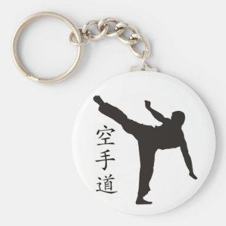 Alto kanji del retroceso/del karate llavero redondo tipo pin