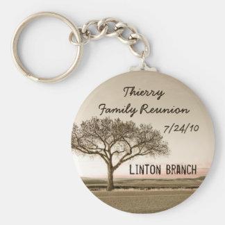 Alto llavero del recuerdo de la reunión de familia