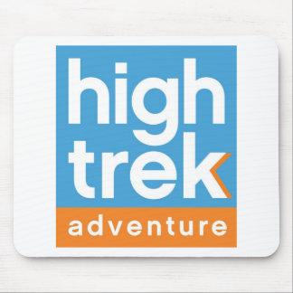 Alto logotipo de la aventura del viaje alfombrilla de ratón
