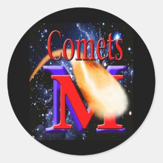 Alto logotipo del cometa de McCluer en Starfield Pegatina Redonda
