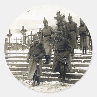 Alto mando del alemán de WWI Pegatina Redonda