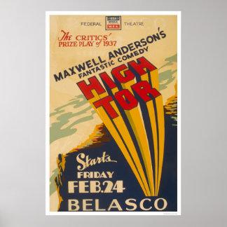 Alto maxwell Anderson del Tor WPA 1937 Poster