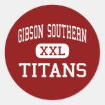 Alto meridional de Gibson - titanes - - rama del Etiquetas Redondas