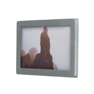 alto Mountain View de la roca Hebilla Cinturón Rectangular