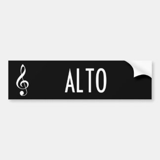 Alto Music Bumper Sticker Gift