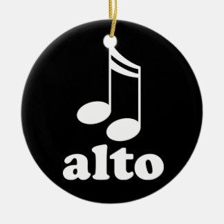 Alto Music Notes Choir Award Gift Ceramic Ornament