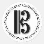 Alto o Clef de C del diseño de la nota de la músic Pegatina