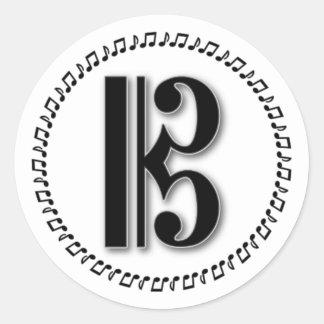 Alto or Tenor Clef Music Note Design C Clef Sticker