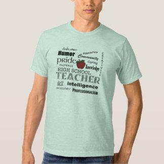 Alto orgullo del profesor de escuela+Apple rojo Playeras