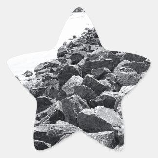 Alto paisaje dominante de la pared de mar de pegatina en forma de estrella