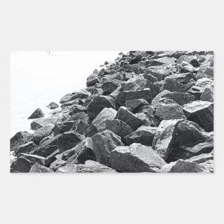 Alto paisaje dominante de la pared de mar de pegatina rectangular