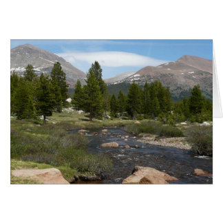 Alto parque de la corriente III Yosemite de la Tarjeta De Felicitación