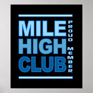 Alto poster del club de la milla