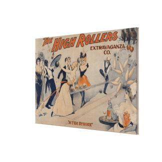 Alto poster del teatro del fiesta de RollersBowlin Lona Estirada Galerías