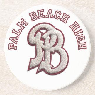 Alto práctico de costa #2 del Palm Beach Posavasos De Arenisca