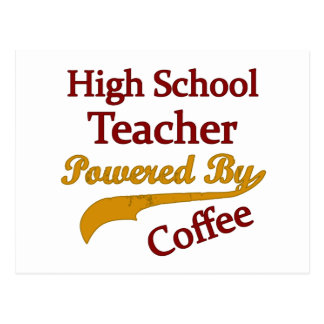 Alto profesor de escuela accionado por el café tarjeta postal