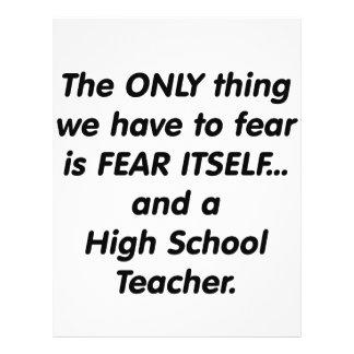 Alto profesor de escuela del miedo flyer a todo color