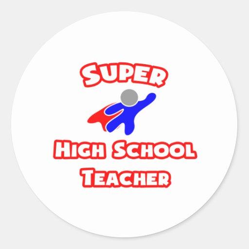 Alto profesor de escuela estupendo pegatinas redondas