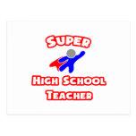 Alto profesor de escuela estupendo postal