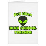 Alto profesor de escuela extranjero malvado tarjeta