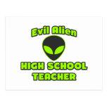 Alto profesor de escuela extranjero malvado tarjetas postales