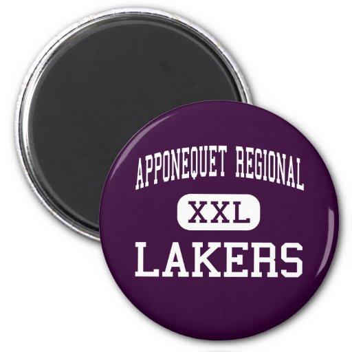 Alto regional de Apponequet - Lakers - - Lakeville Imán Redondo 5 Cm