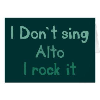 Alto Rock It Greeting Card