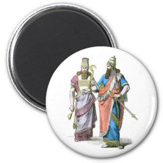 Alto sacerdote y rey asirios imán redondo 5 cm