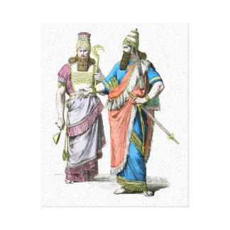 Alto sacerdote y rey asirios impresión en lona estirada