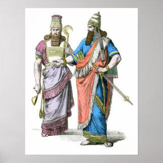 Alto sacerdote y rey asirios impresiones