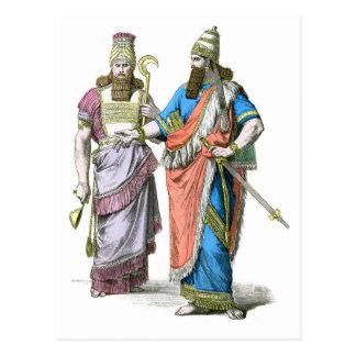 Alto sacerdote y rey asirios postales