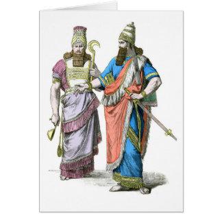 Alto sacerdote y rey asirios tarjeta de felicitación
