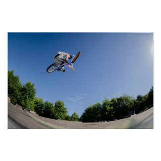 Alto salto de BMX Poster