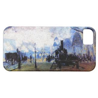 Alto santo Lazare de la estación del Res Monet en iPhone 5 Carcasas