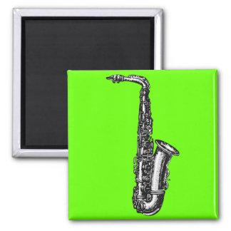 Alto Saxophone 2 Inch Square Magnet