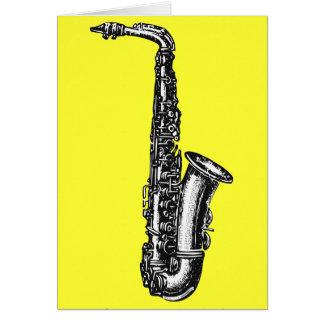 Alto Saxophone Card