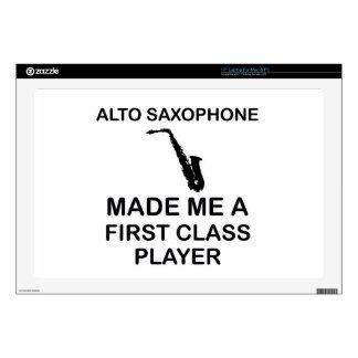 Alto saxophone design decal for laptop