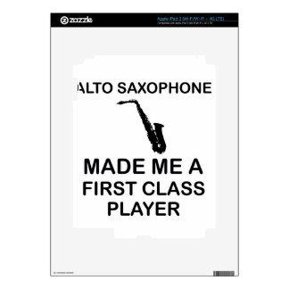Alto saxophone design decals for iPad 3