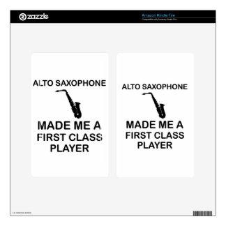 Alto saxophone design kindle fire decal