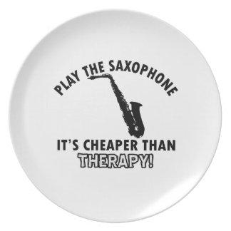 alto saxophone instrument designs party plate