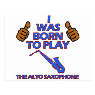 alto saxophone Musical designs Postcard