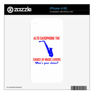 ALTO SAXOPHONE the choice of music lovers Skin For The iPhone 4