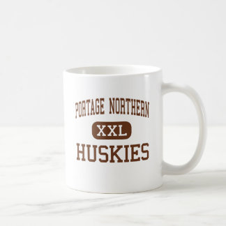 Alto septentrional de Portage - perros esquimales  Taza Básica Blanca