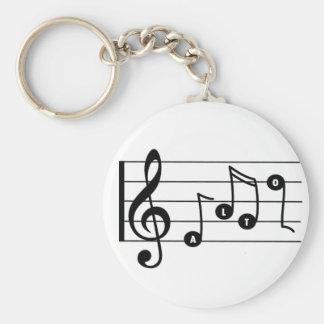 Alto Singer Musical Keychain